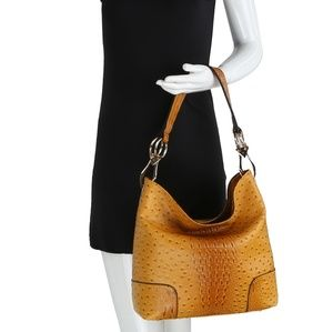 Hillary Ostrich Hobo Tote